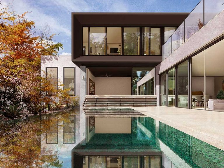 South Yarra pool, house design solutions